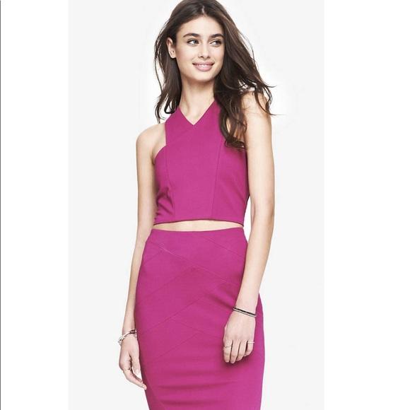 Express Dresses & Skirts - NWOT Hot Pink 2-Piece Express Skirt Set